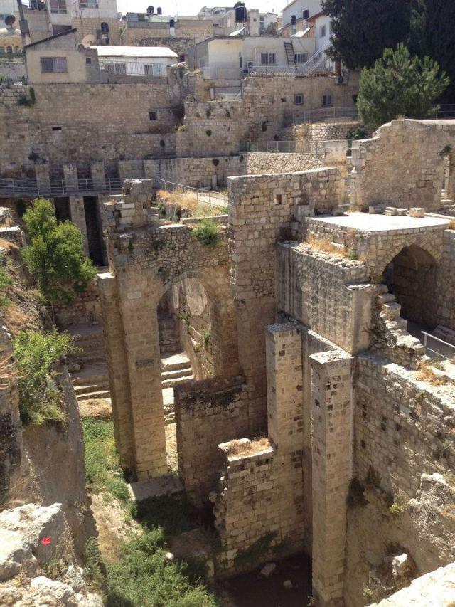 Ruins of Bethesda in Jerusalem.